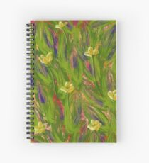 Dot matrix daffodils Spiral Notebook