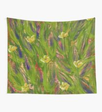 Dot matrix daffodils Wall Tapestry