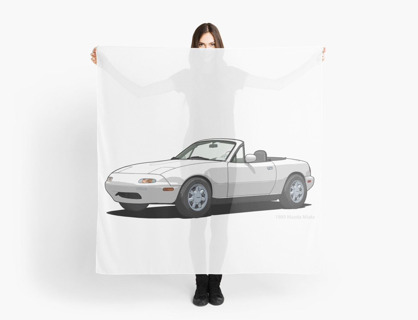 Mazda MX 5 Miata MK1 Crystal White By DigitalCel