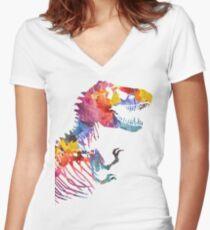 Funkosaurus Rex Women's Fitted V-Neck T-Shirt