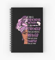Phenomenal Woman Pink And Purple Spiral Notebook