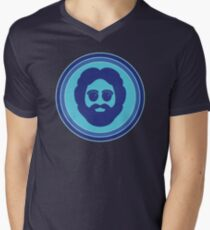 O Captain! My Captain! (Jerry Garcia / blue) Men's V-Neck T-Shirt