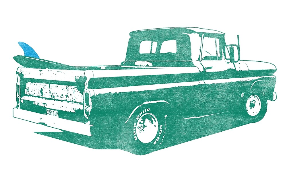 Vintage Surf Truck by mejiadesigns
