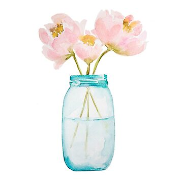 Peonies in Jar by maddiepeacock
