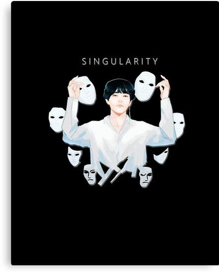 'Kim Taehyung/V SINGULARITY Love Yourself: Tear (BTS) STICKER' Canvas Print  by Caroline Wang