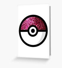 Glitter Pokemon Greeting Card