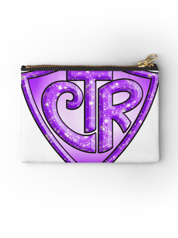 CTR - Choose The Right LDS Mormon Purple Glitter