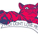 NO! DON'T LOVE ME CAT BLISS RED by patrickhelium