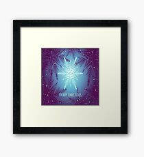 Happy snowflake Christmas Framed Print