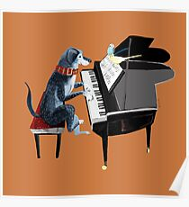 Piano lesson ( Doggy Art )  Póster