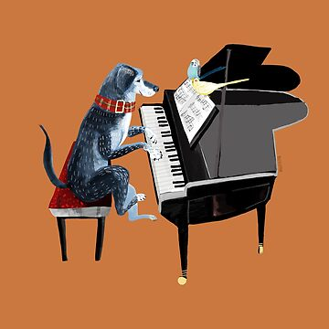 Piano lesson (Doggy Art) by belettelepink