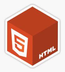 Programming Skill Cube - HTML Sticker