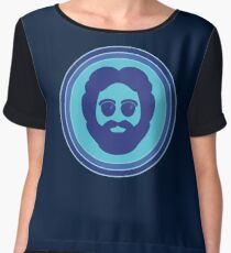 O Captain! My Captain! (Jerry Garcia / blue) Chiffon Top
