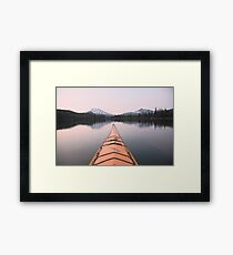 Sparks Lake kayak, Oregon Framed Print