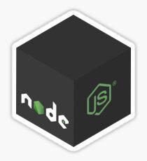 Programming Skill Cube - Node.js Sticker