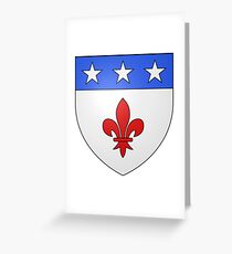French France Coat of Arms 1477 Blason de la ville de Beaulieu lès Loches  Greeting Card