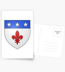 French France Coat of Arms 1477 Blason de la ville de Beaulieu lès Loches  Postcards