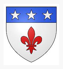 French France Coat of Arms 1477 Blason de la ville de Beaulieu lès Loches  Photographic Print