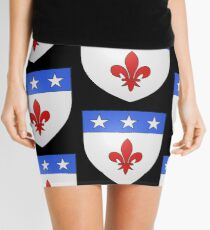French France Coat of Arms 1477 Blason de la ville de Beaulieu lès Loches  Mini Skirt