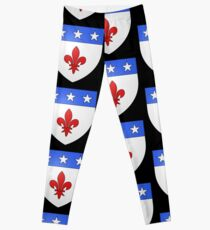 French France Coat of Arms 1477 Blason de la ville de Beaulieu lès Loches  Leggings