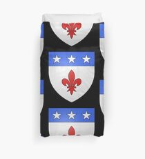 French France Coat of Arms 1477 Blason de la ville de Beaulieu lès Loches  Duvet Cover