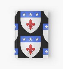 French France Coat of Arms 1477 Blason de la ville de Beaulieu lès Loches  Hardcover Journal