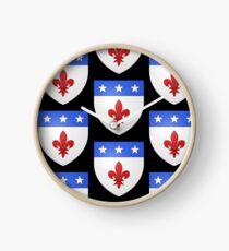 French France Coat of Arms 1477 Blason de la ville de Beaulieu lès Loches  Clock