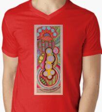 Zentangle Graphism Vertical V-Neck T-Shirt