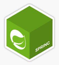 Programming Skill Cube - Spring Sticker