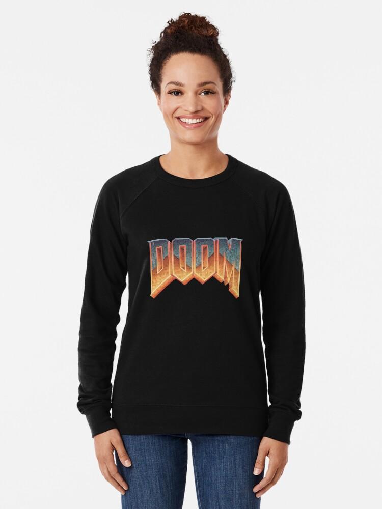 Alternate view of Doom - RETRO LOGO - Lightweight Sweatshirt