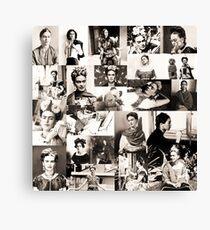 Frida Kahlo pattern Canvas Print