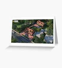 3D Exterior Rendering and Design Services Greeting Card