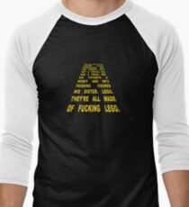 The Thick of It Star Wars Malcolm Tucker Quote Men's Baseball ¾ T-Shirt