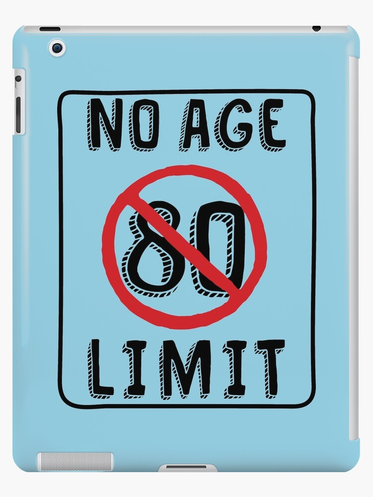 No Age Limit 80th Birthday Gifts Funny B Day For 80 Year Old IPad