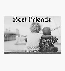 Best Friends - Child Hugs Photographic Print