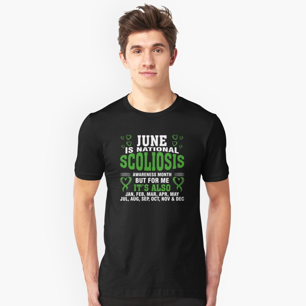 June is Scoliosis Awareness Month Shirt Unisex T-Shirt Front