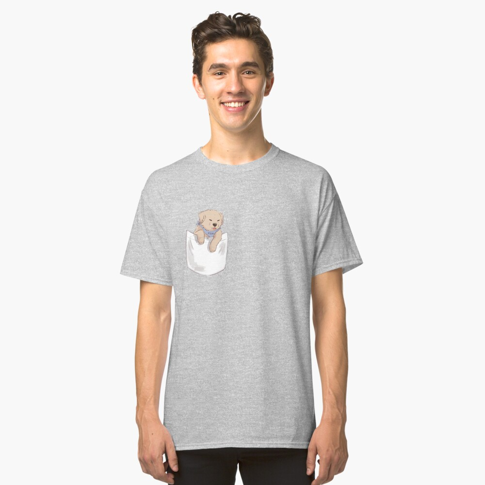 fish the dog - pocket blep Classic T-Shirt Front