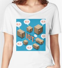Isometric Internet of Things Concept Women's Relaxed Fit T-Shirt