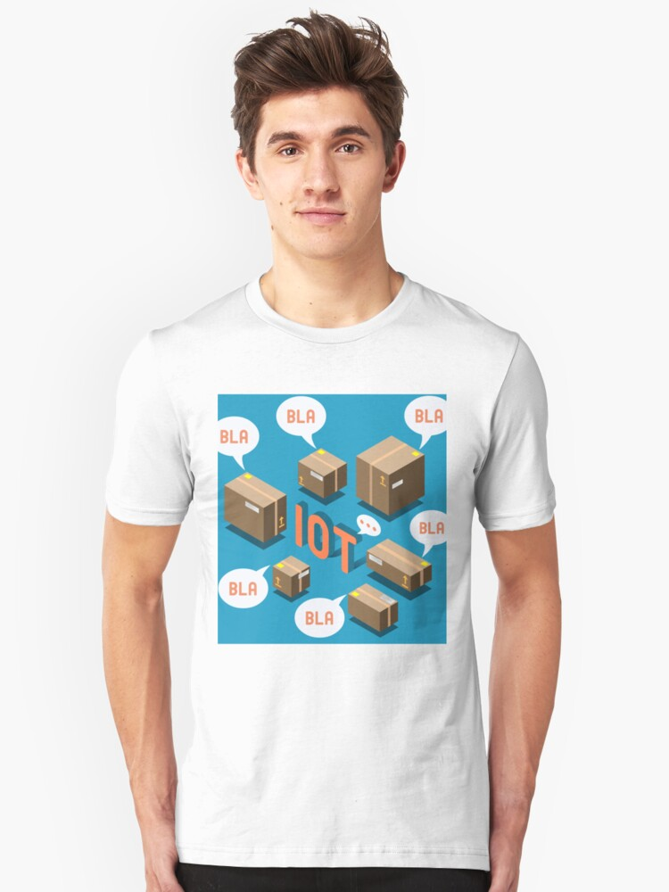 Isometric Internet of Things Concept Unisex T-Shirt Front