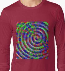 Abstract Circle Swirl Twirl Vortex Spiral maximum ... Long Sleeve T-Shirt