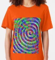 Abstract Circle Swirl Twirl Vortex Spiral maximum ... Slim Fit T-Shirt