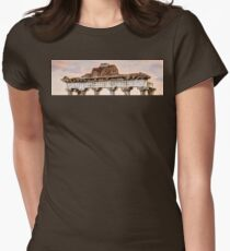 Temple of Saturn Pediment and Capitals Women's Fitted T-Shirt