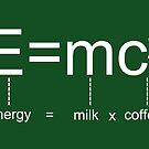 Kaffeeformel E = mc2 von JCDesignsUK