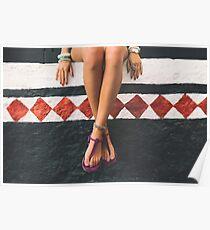 pretty woman's legs Poster