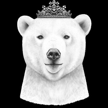 Queen bear on black by kodamorkovkart