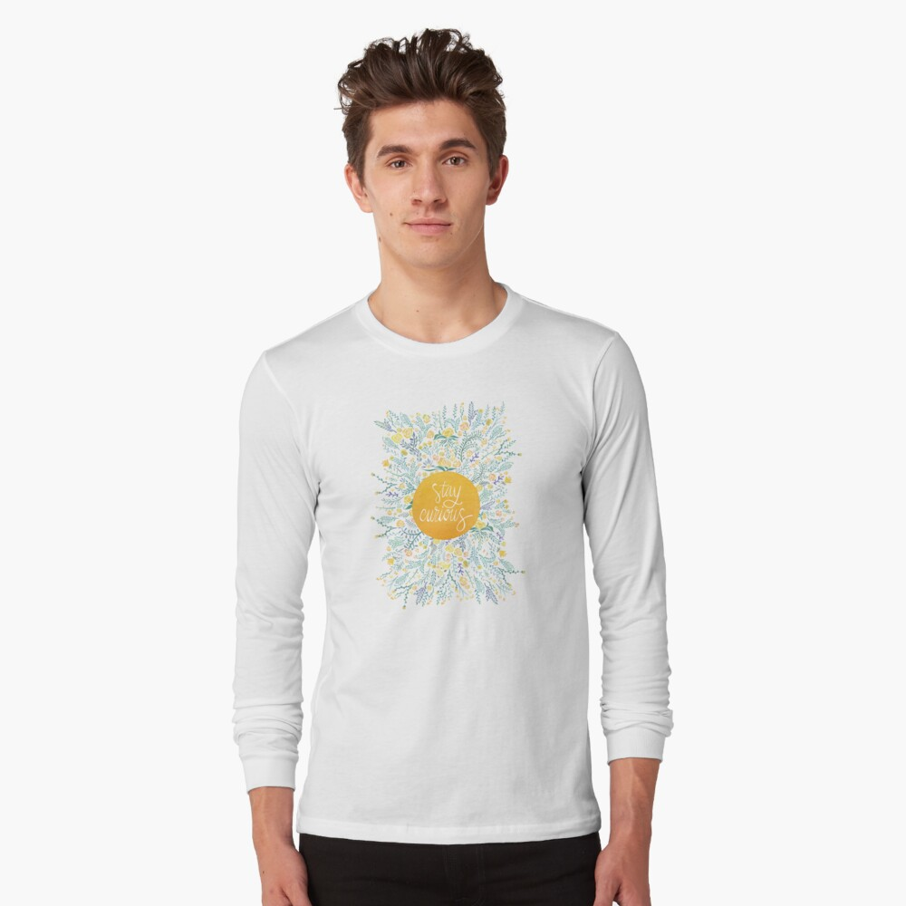 Stay Curious – Yellow & Green Long Sleeve T-Shirt