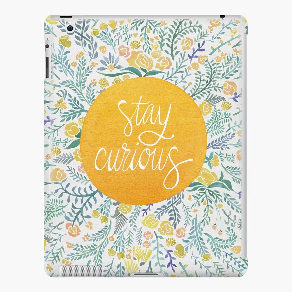 Stay Curious – Yellow & Green iPad Case & Skin