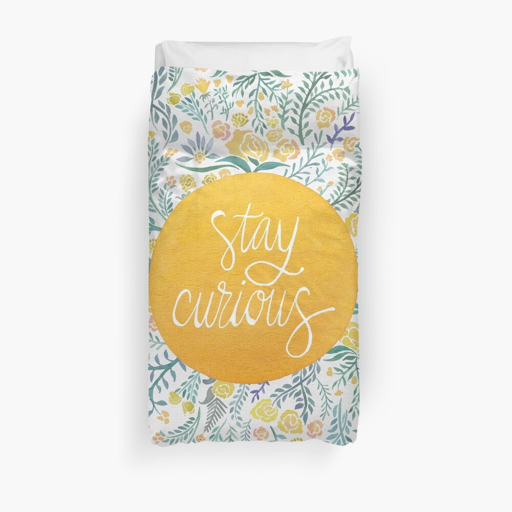 Stay Curious – Yellow & Green Duvet Cover