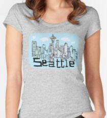 Seattle city Women's Fitted Scoop T-Shirt