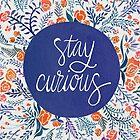 « Stay Curious – Navy & Coral » par Cat Coquillette